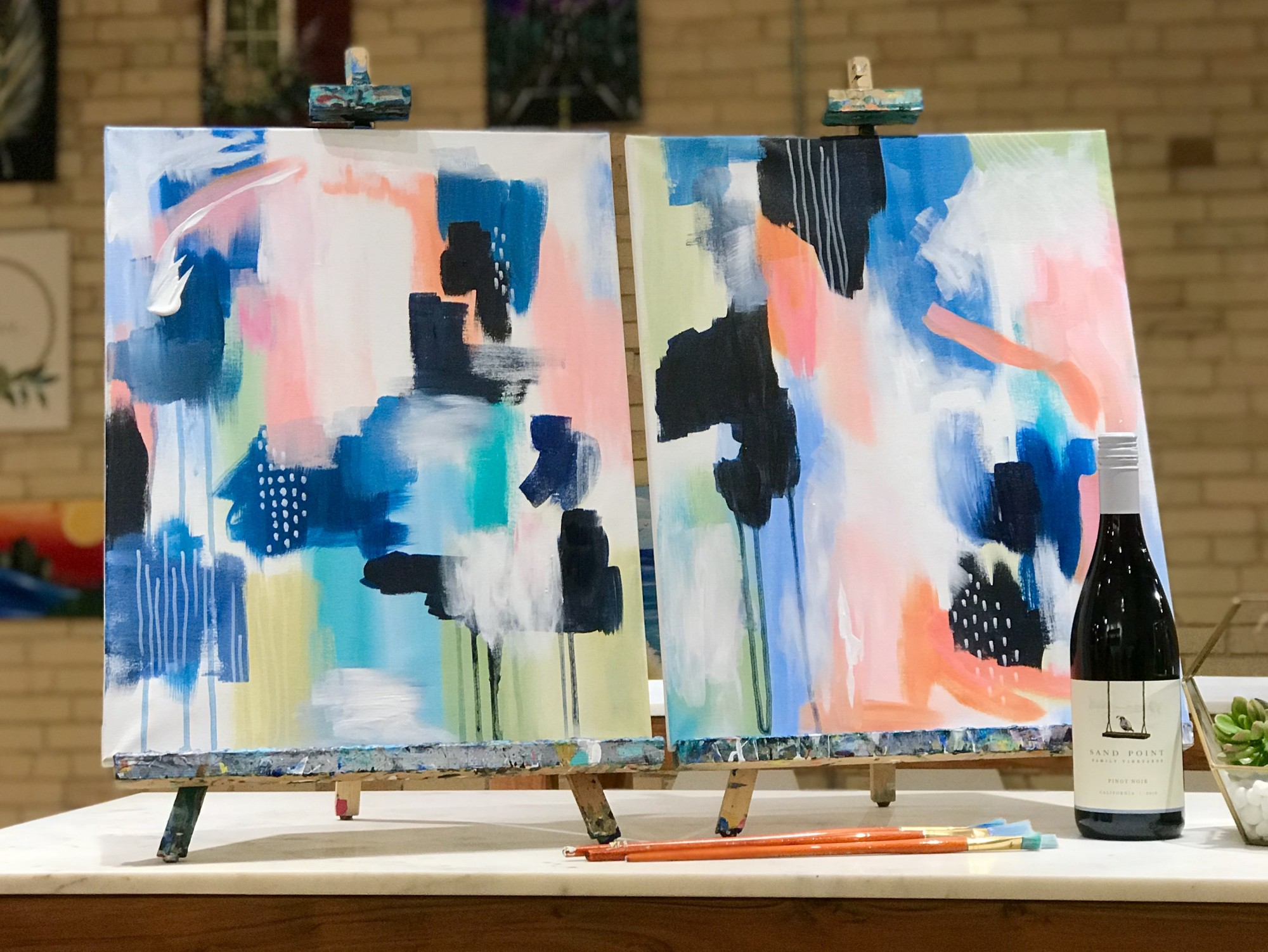 SOLD OUT!  Abstract Workshop DateNight! - In Studio
