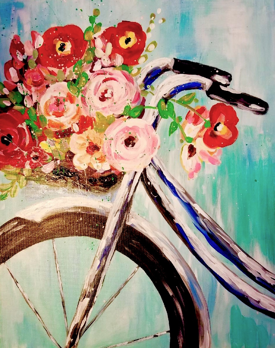 Bike Bouquet $25 Winedown Wednesday - Downtown GR