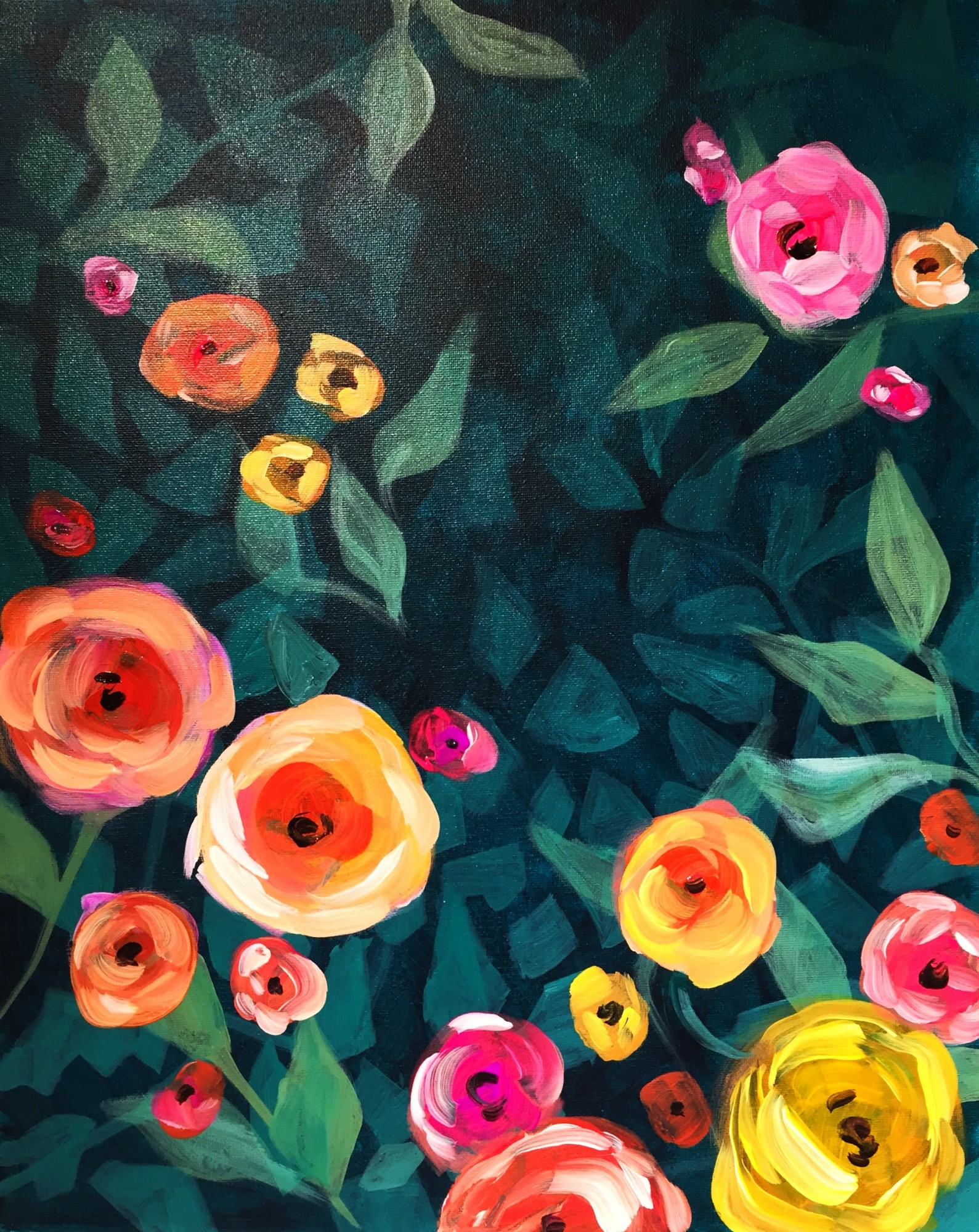 Bohemian Floral *NEW* - Winedown Wednesday $25 class