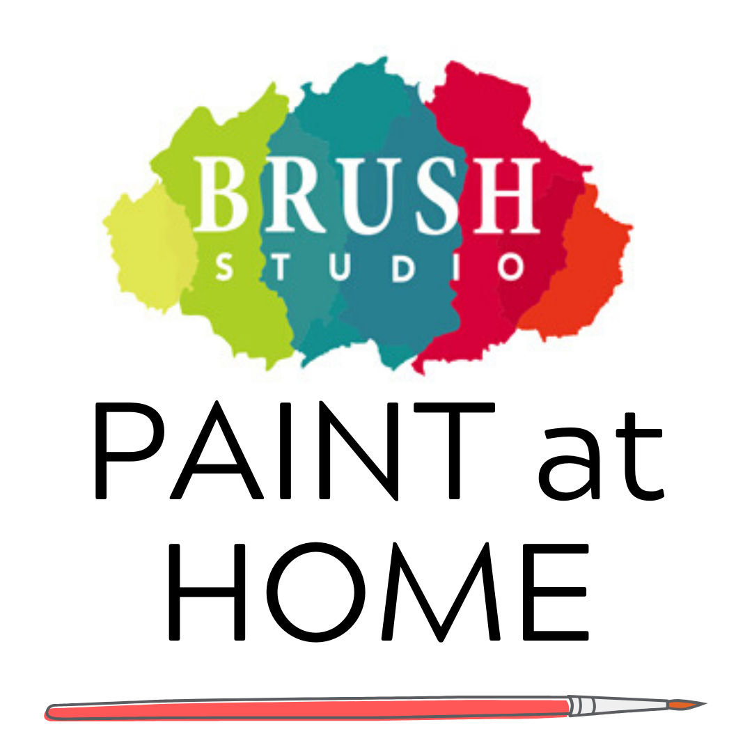 BRUSH AT HOME! Take Home Art Kits $30 DELIVERY OR SHIP