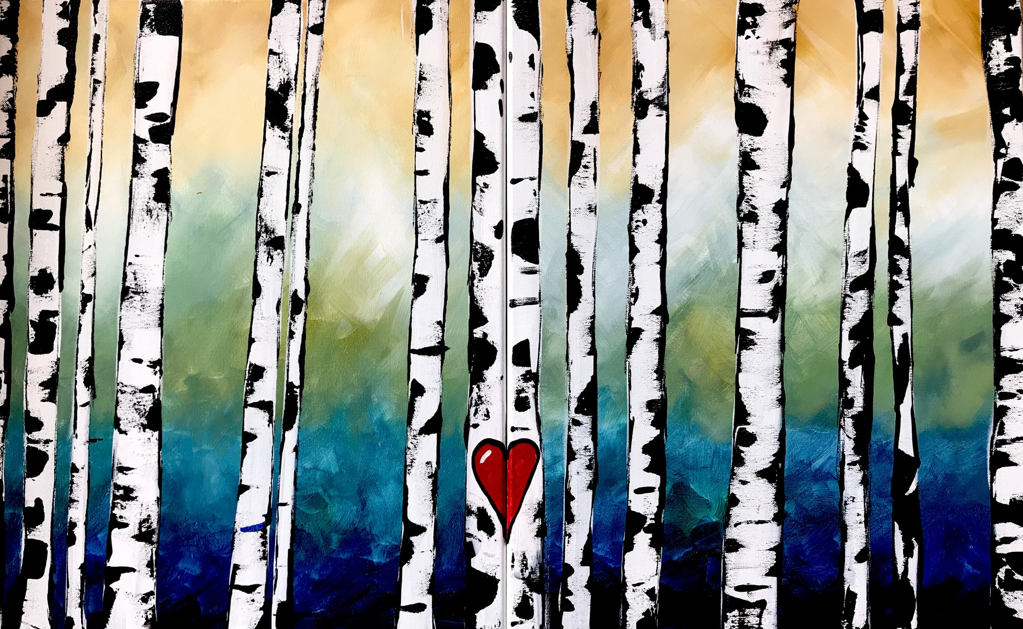 Fall Birches DateNight $25