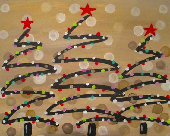 Festive Trees- Wine Down Wednesday $25 Class & 1/2 Bottles of Wine