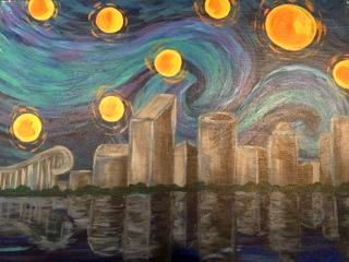 GR Starry Night - Downtown GR