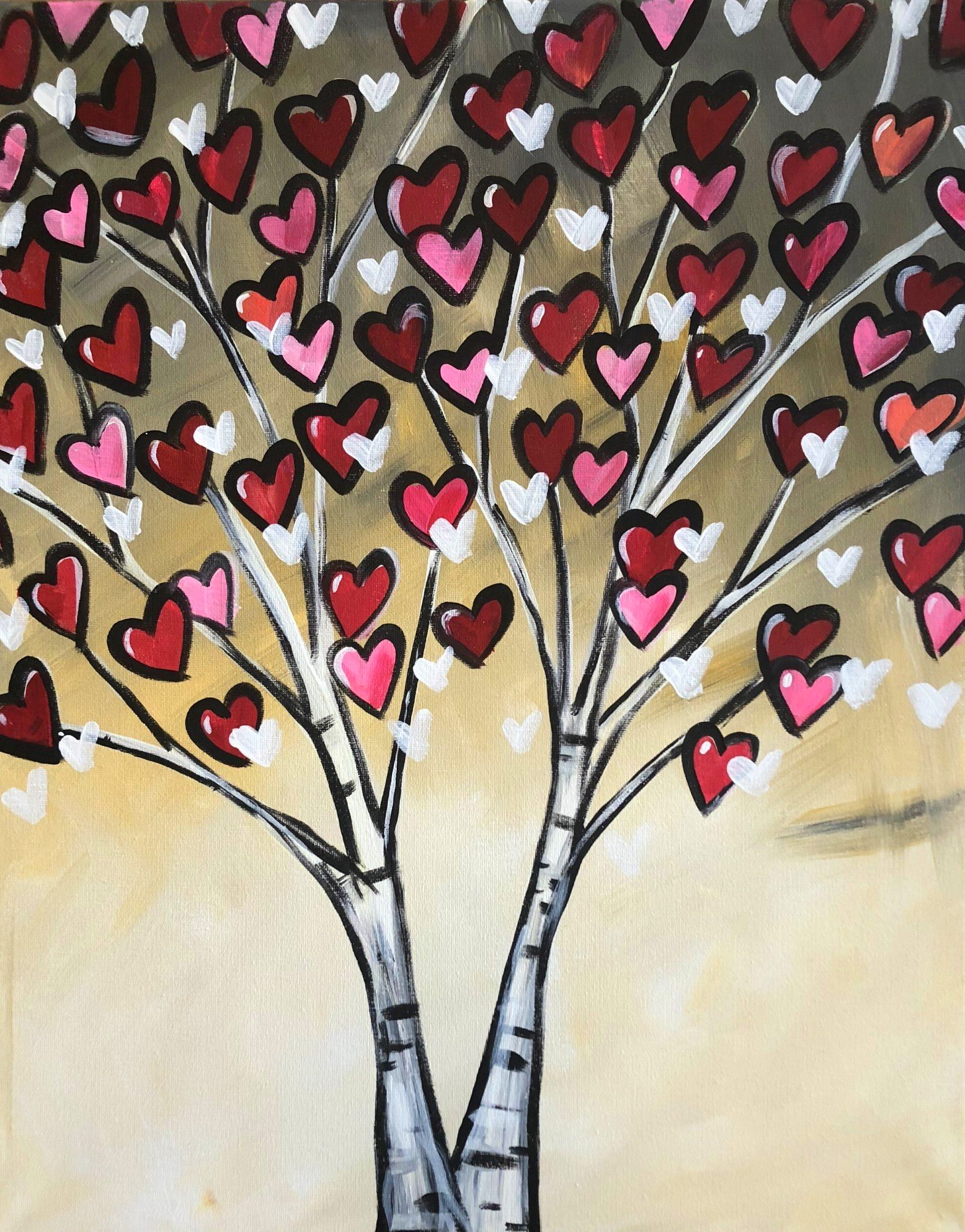 Heart Birch Tree - Wine-down Wednesday!