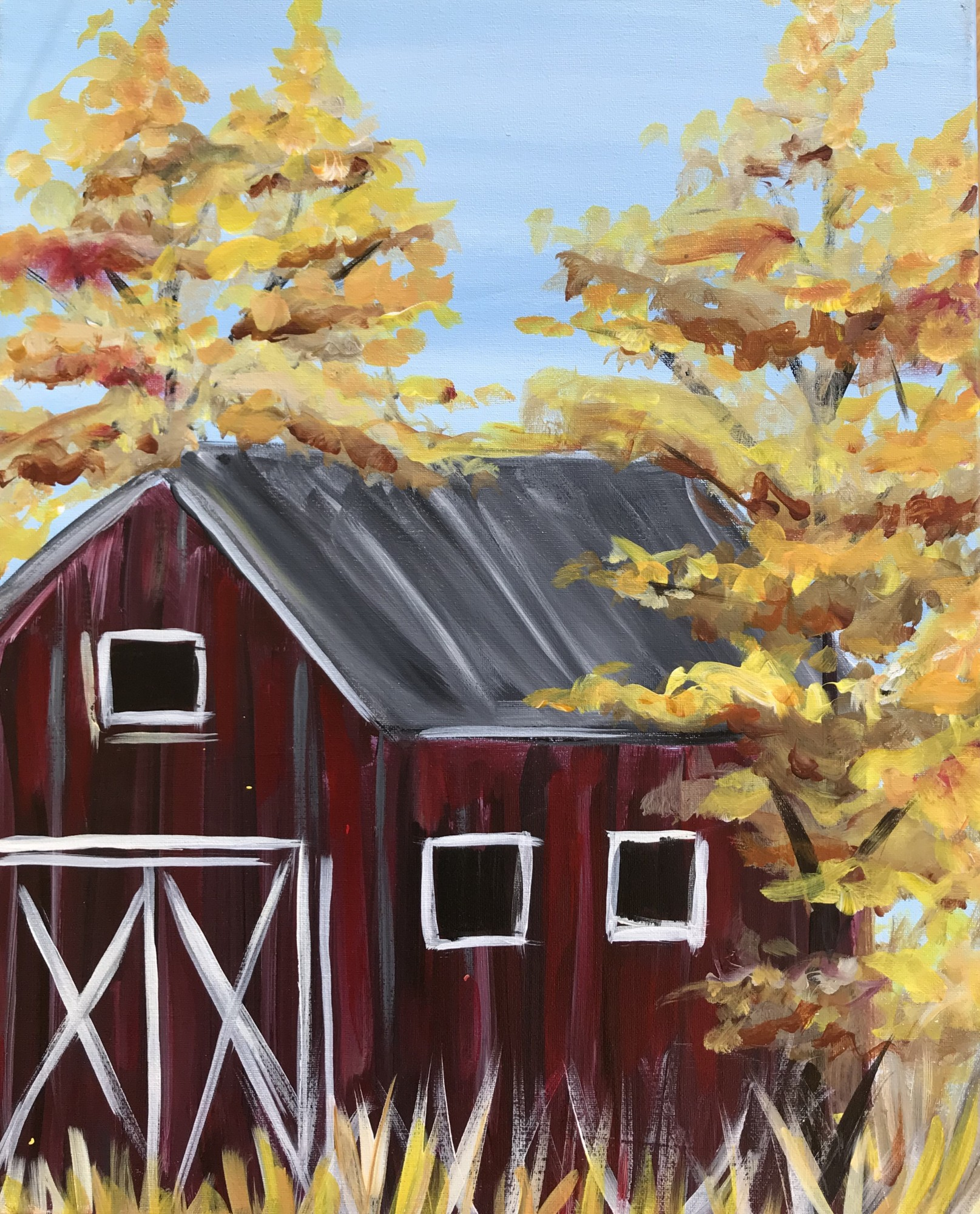 Fall Barn WineDown Wednesday $25! - In studio