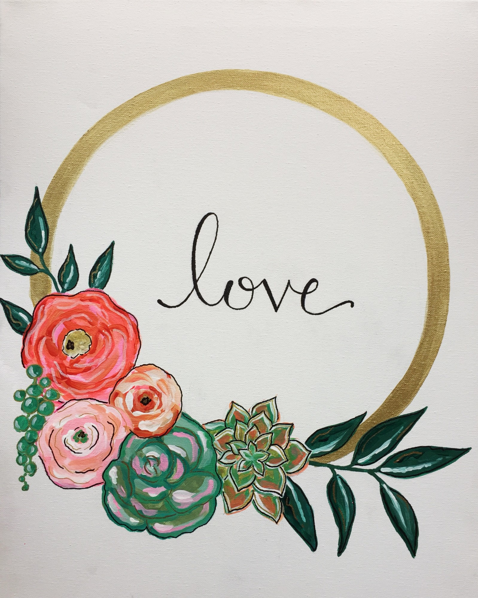 Love Wreath - $25 Wine-down Wednesday