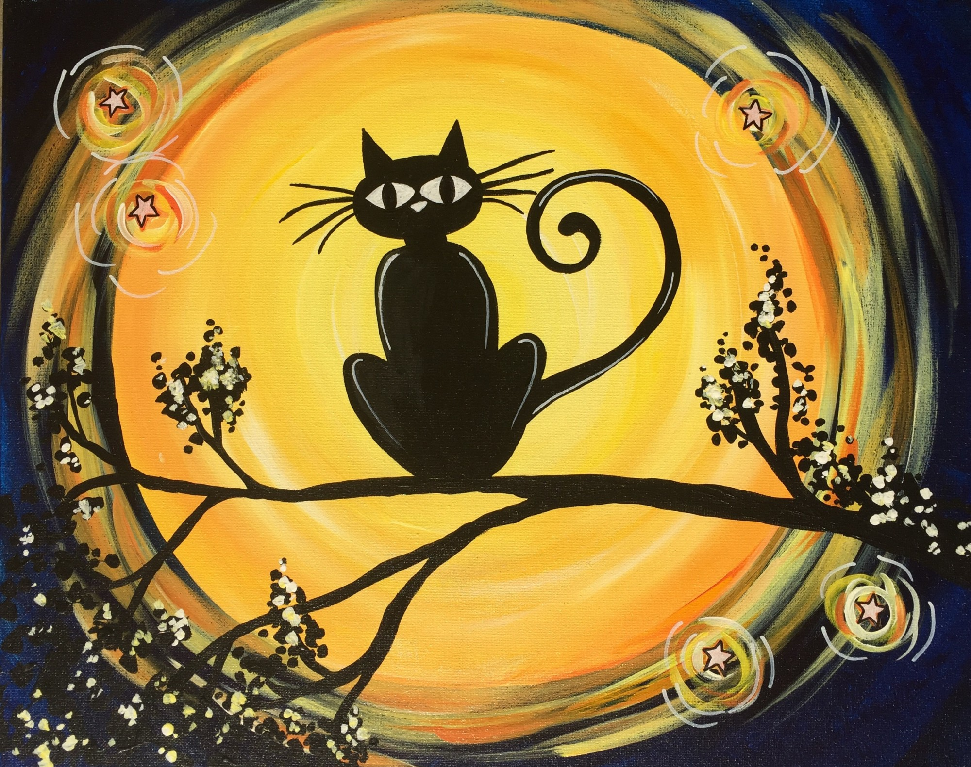 Moonlit Cat $30 Morning Special!