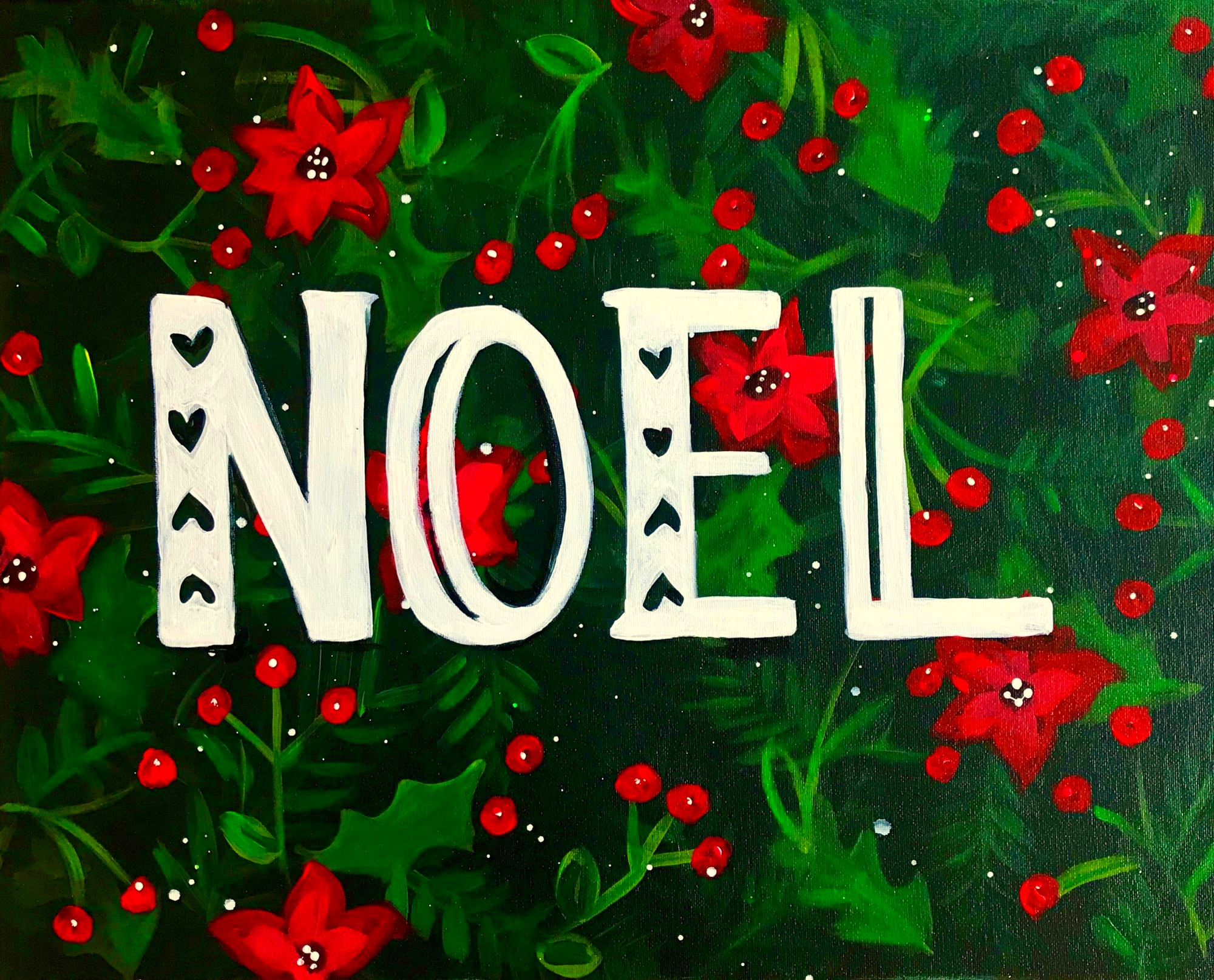 Customized Holiday Floral Sign $35