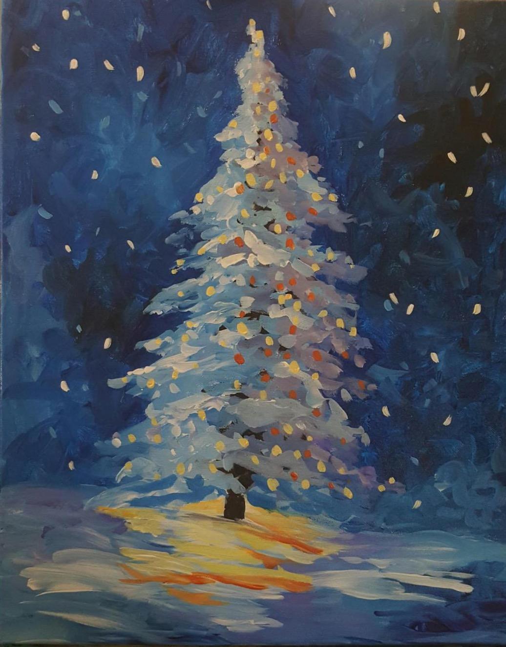O Christmas Tree - Downtown GR - Brush Studio