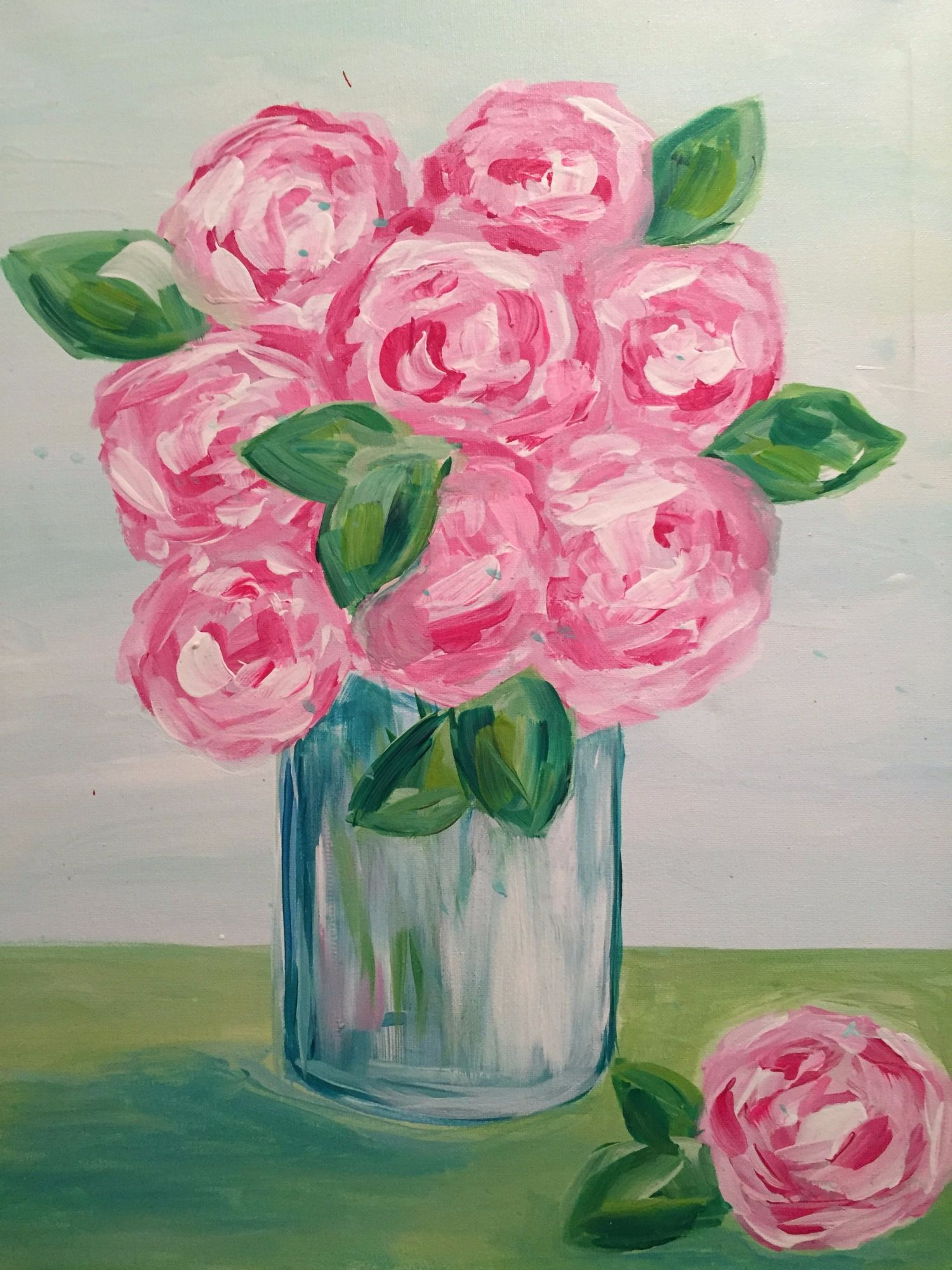Pink Peonies $25 Wine-down Wednesday
