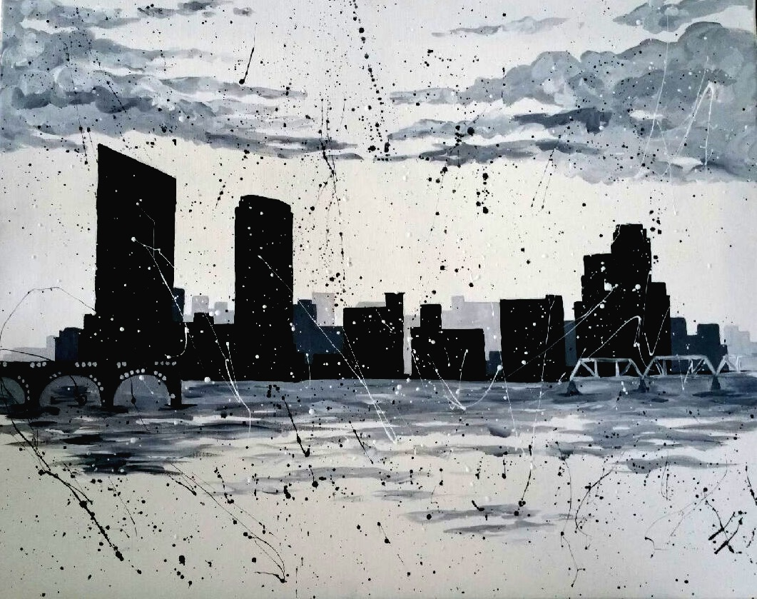 GR Splatter Skyline - In Studio