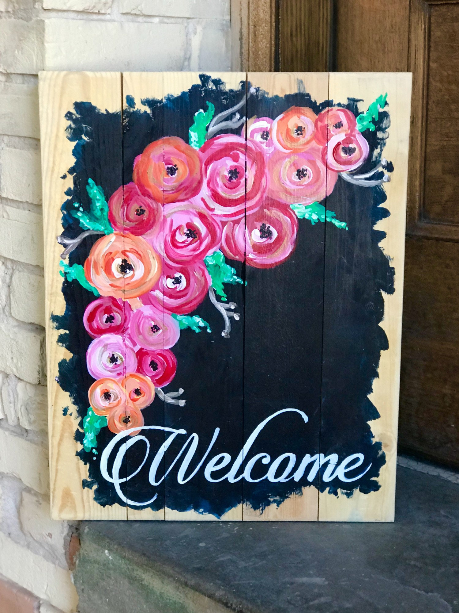 Welcome on Wood Pallet - Downtown Grand Rapids